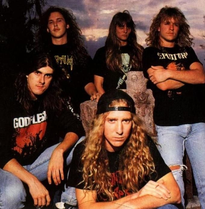 Obituary. Good old fashioned Tampa Bay death metal, my dad grew up next door to these guys. In fact, Obituary's first show was them opening for my dad's band Pariah.