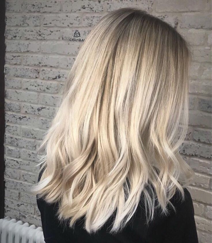 Back Side View Of Blonde Ombre For Medium Length Hair