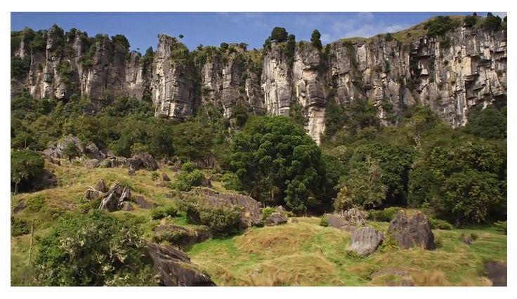Mangaotaki Rocks in the Mangaotaki Valley near Pio Pio.  This area provided the location for Trollshaws Forest and Staddles Farm.