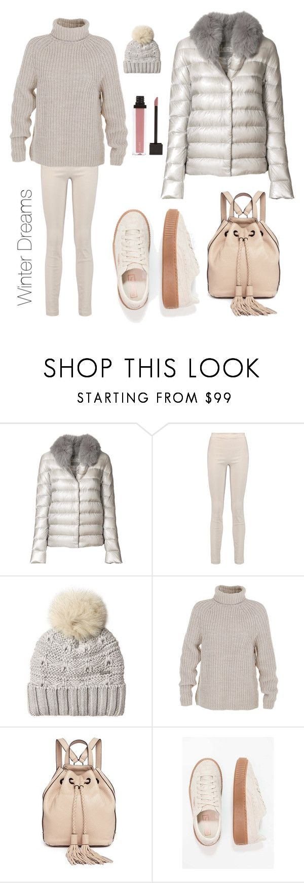 """Winter Dreams"" by katerina-giannakaki ❤ liked on Polyvore featuring Herno, Donna Karan, Woolrich, TIBI and Rebecca Minkoff"