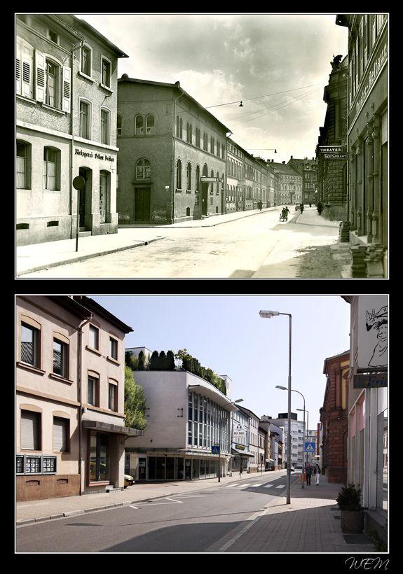 Kaiserslautern einst und heute - Theaterstraße