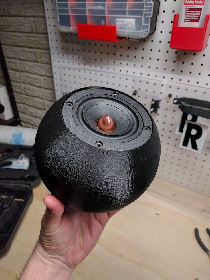 3d printed spherical enclosure for a speaker 3d printing