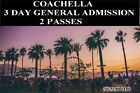 #lastminute  1 Coachella Tickets (1 Wristband All 3 Days) Weekend 2 Two 4/21-4/23 VIP Parking #deals_us