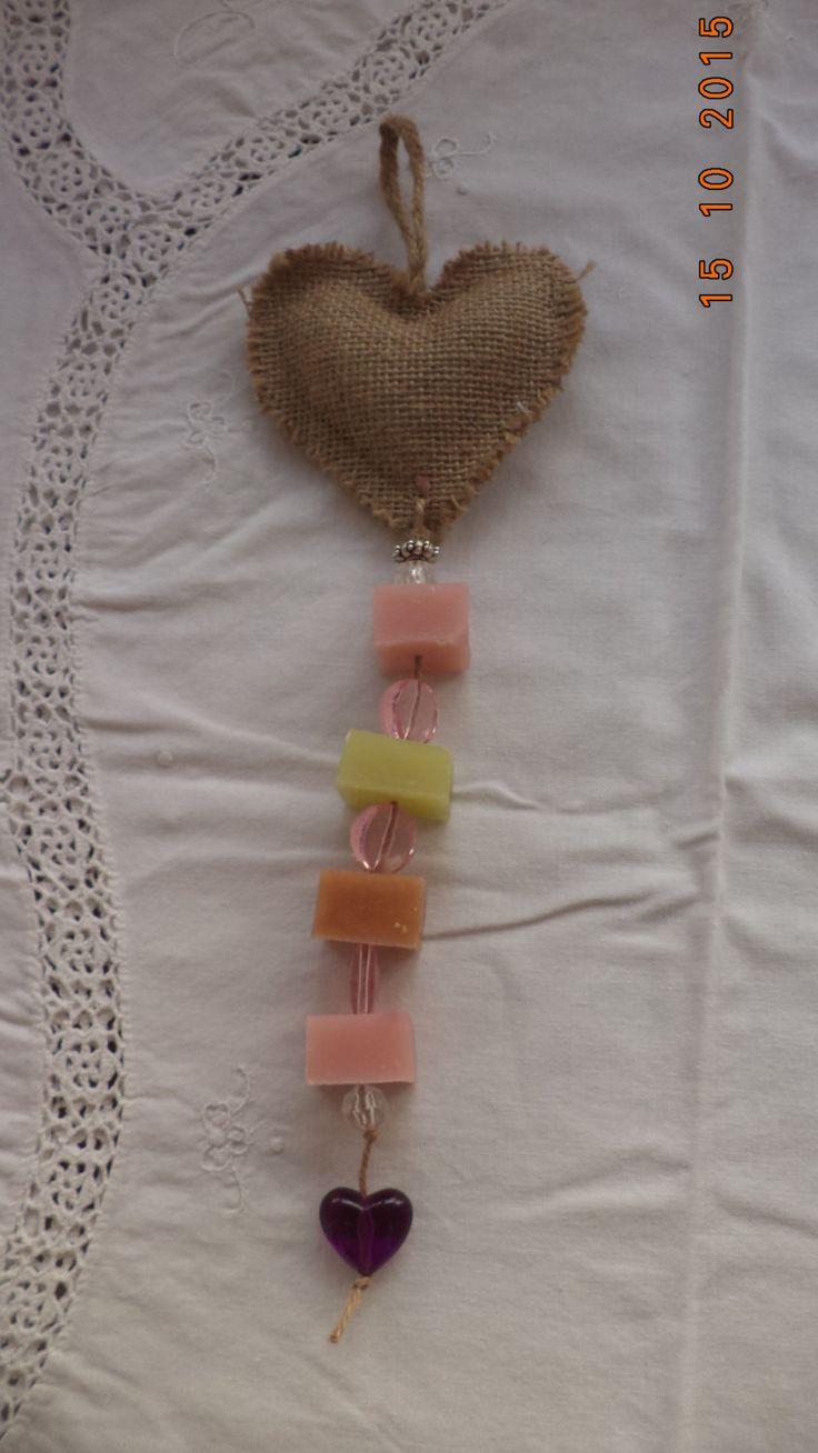 Romantic Soap On a Rope Decoration, Glycerin Soap Home Decor by MirtilloHandmade on Etsy