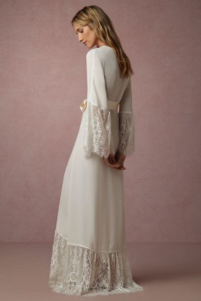 BHLDN Queen Anne's Lace Robe in  Bride Bridal Lingerie at BHLDN
