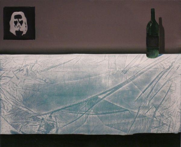Herman Levente: Nyomok 01 / Traces 01 - 90x110 cm - 2014 - olaj, vászon / oil on canvas