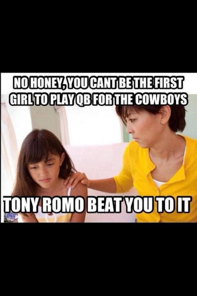 ....I'm sorry but this is funny I'm am so sorry to Tony Romo and Cowboy fans
