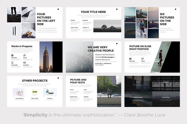 Nova Minimal Keynote Template by Slidedizer on @creativemarket