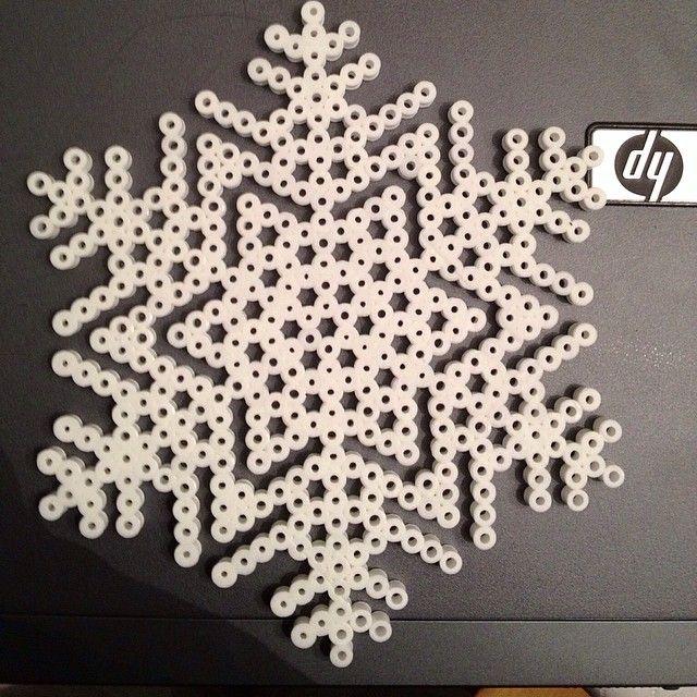Winter snowflake perler beads by perlerobsessed
