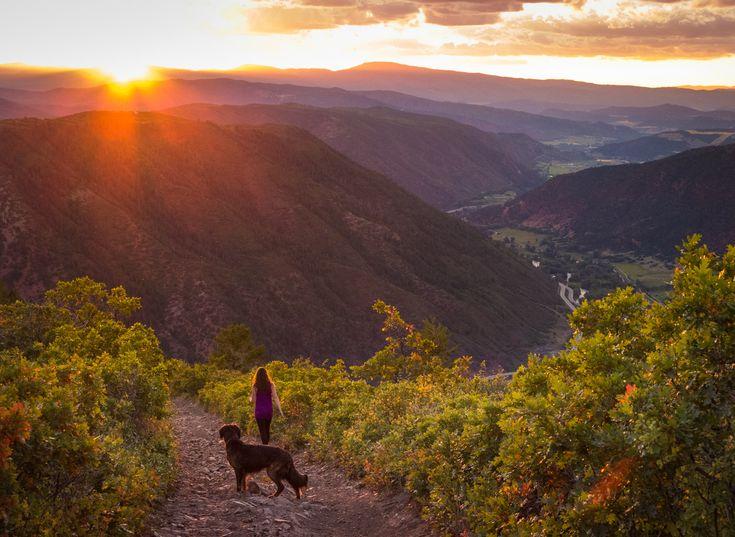 Sunset from Triangle Peak in Aspen, Colorado