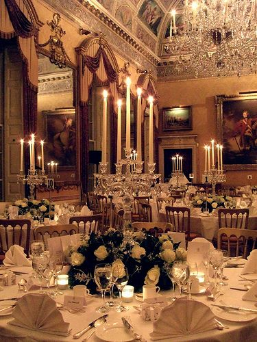 Beautiful Ball room in Brocket Hall, Hertfordshire, England, UK