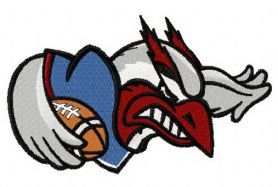 Montreal Alouettes logo 2 machine embroidery design. Machine embroidery design. www.embroideres.com