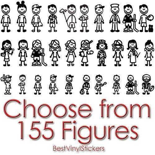 FAMILY-STICKERS-CHOICE-COLOR-CUSTOM-FIGURE-CAR-BACK-WINDOW-VINYL-DECAL-FS-4