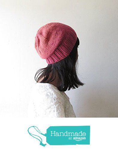 Ombre Slouchy Hat, Pink Coral Slouchy Beanie, Women Hand Knit Hat, Wool Blend, Seamless Winter Beanie, Gift for Her, Made to Order from NaryaBoutique https://www.amazon.com/dp/B01LYM8MDC/ref=hnd_sw_r_pi_dp_wiKbyb4HE2CR9 #handmadeatamazon
