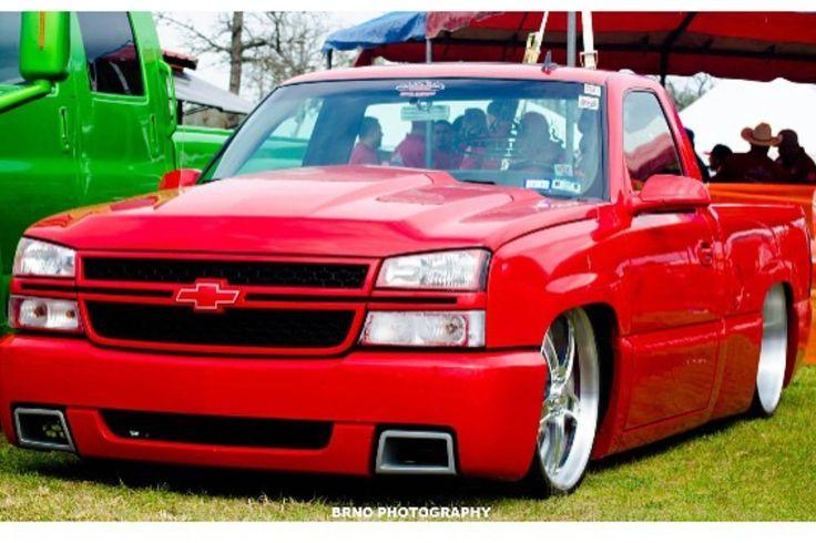 Red chevy silverado single cab SS