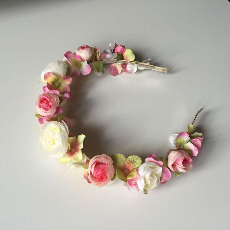 """Купить Ободок """"весенние цветы"""" - ободок для волос, ободок с цветами, ободок, ободок для девочки"""