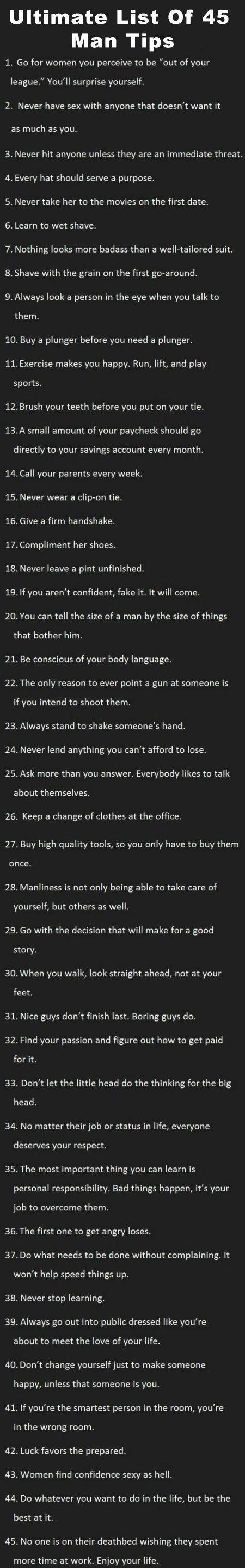 Ultimate-List-Of-45-Man-Tips #manresume not a bad list at all #realtalk
