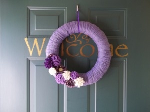 i really like the simple look of it...maybe in whites and grays for my door