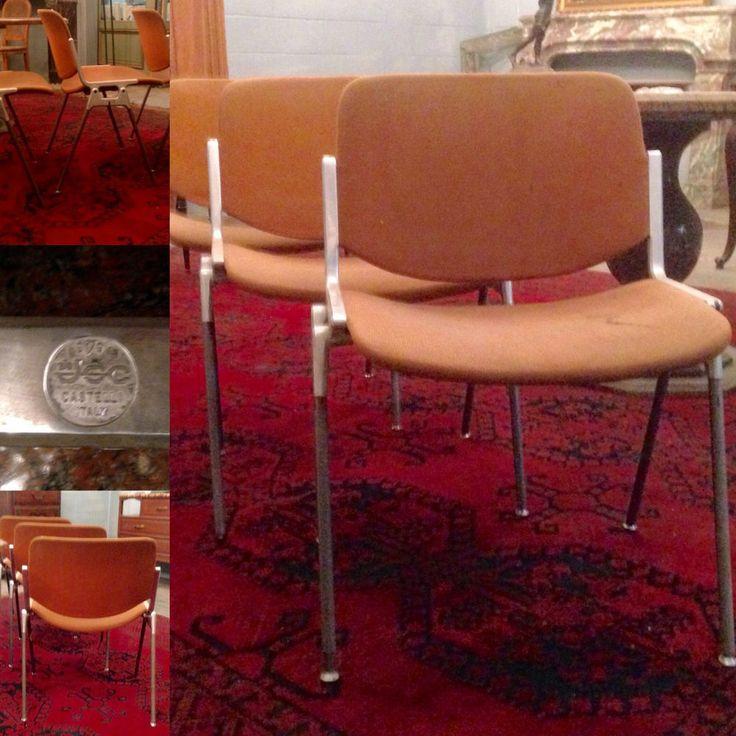 suite de trois chaises moderne fabricant jcc castelli italie xx sicle