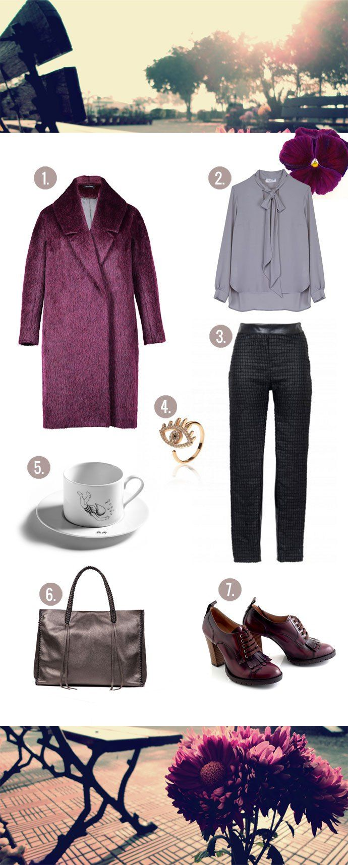 the perfect purple coat and how to style it