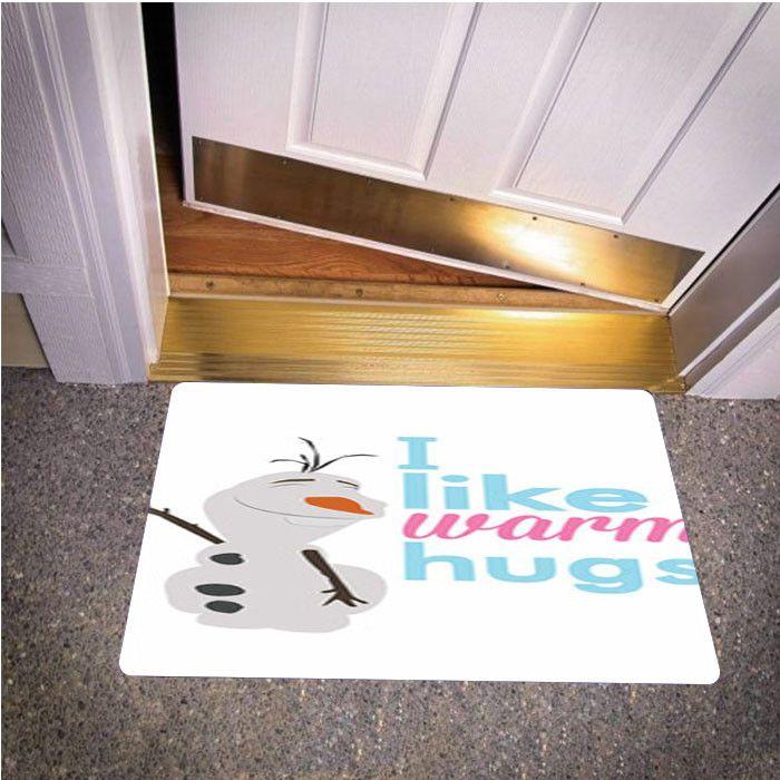 OLAF FROZEN QUOTES WARM HUG BEDROOM CARPET BATH OR DOORMATS