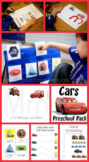 Cars Preschool Pack ~ free printables!
