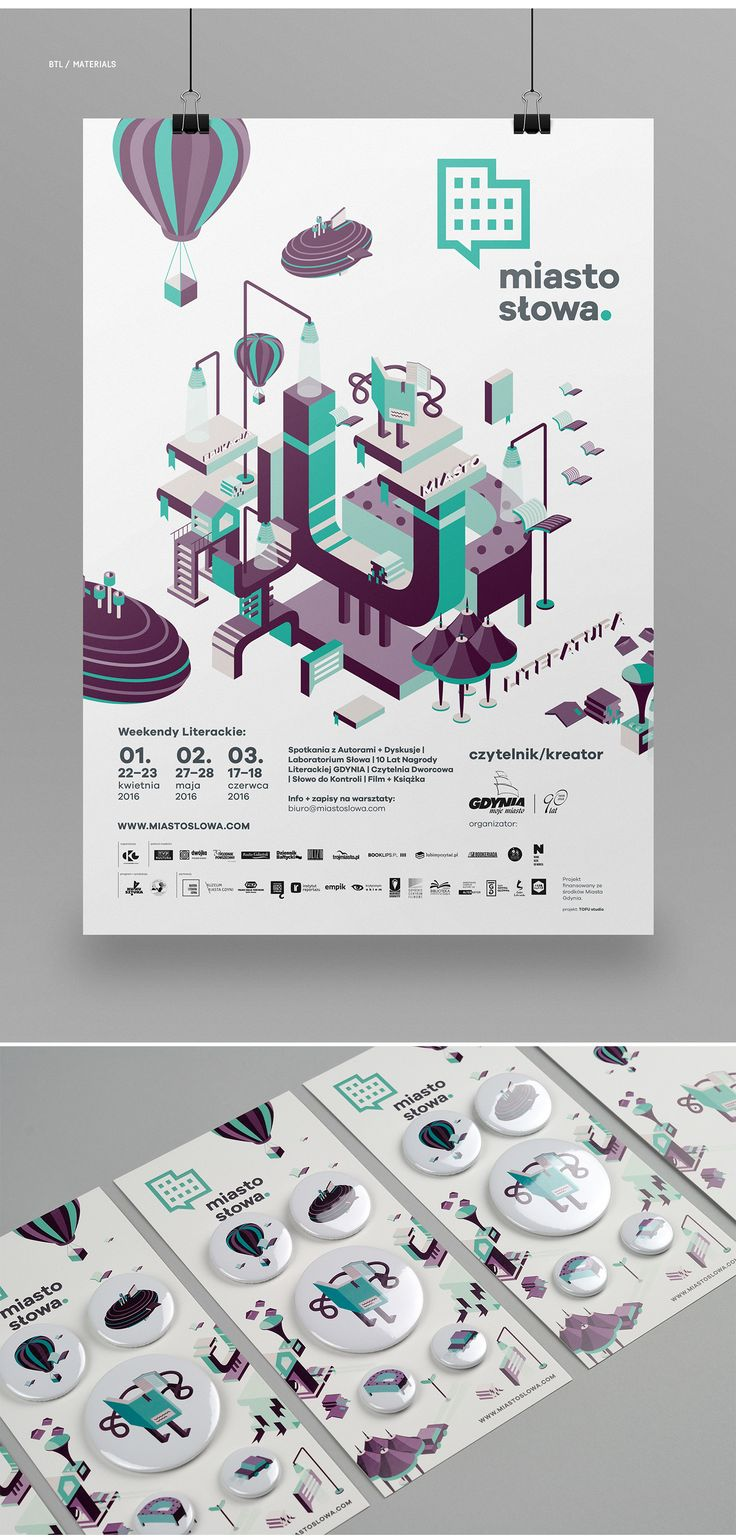 Once again we had the opportunity to prepare a visual identity for MIASTO SŁOWA festival. For this year's edition, we decided to keep expanding our set of isometric elements, making them more and more abstract, yet still closely related to literature.…