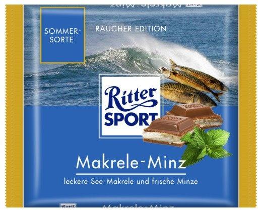 RITTER SPORT Fake Schokolade Makrele-Minz