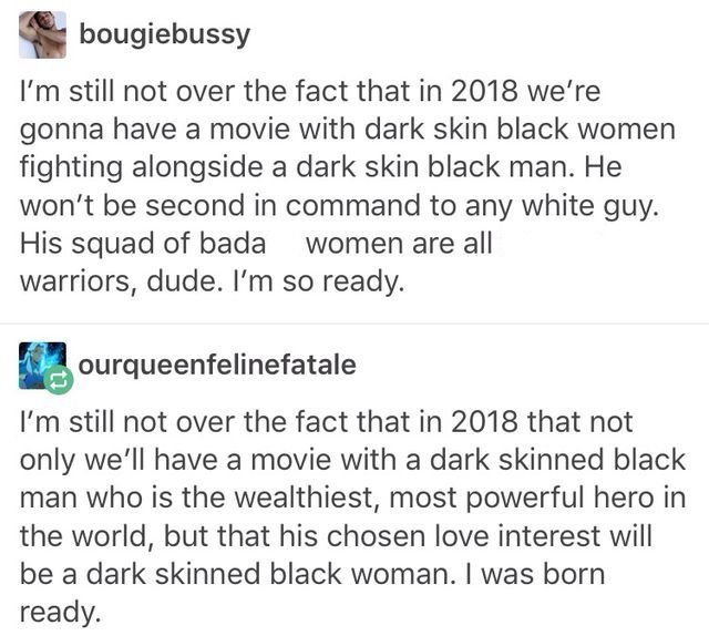 I cannot wait for this movie! I hope it makes POC feel the way #wonderwoman did for ladies everywhere