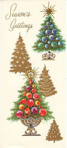 403 best Old Fashioned Christmas: Cards - Trees images on ...