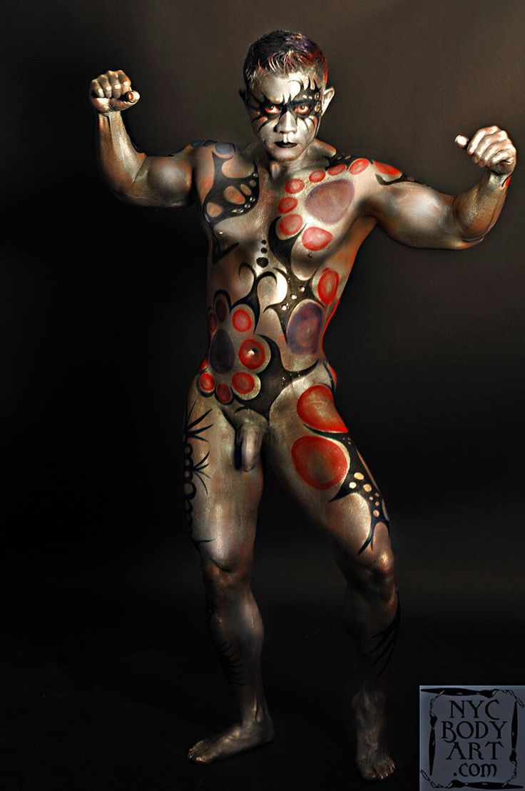 full male nude body paint