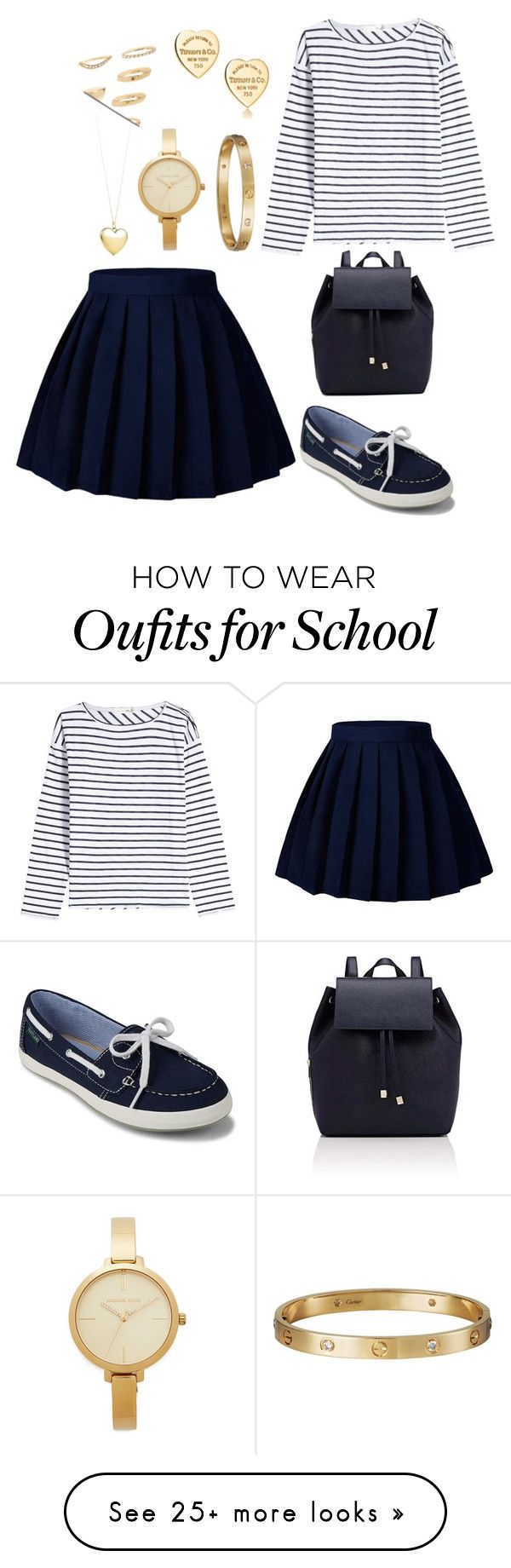 """blue"" by eboony800 on Polyvore featuring rag & bone, Eastland, Barneys New York, Michael Kors, Cartier, Tiffany & Co. and Forever 21"