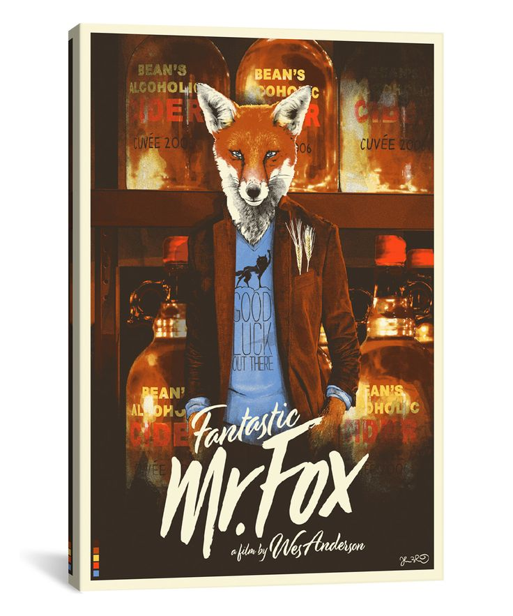 Fantastic Mr. Fox Movie Poster Wrapped Canvas
