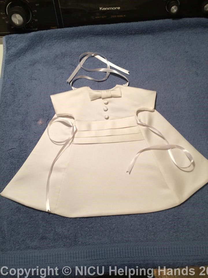 Made with love by a Sister Seamstress @ nicuHelpingHands.org   #AngelGowns♥