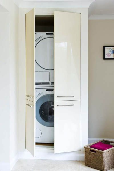 Hidden away laundry cupboard