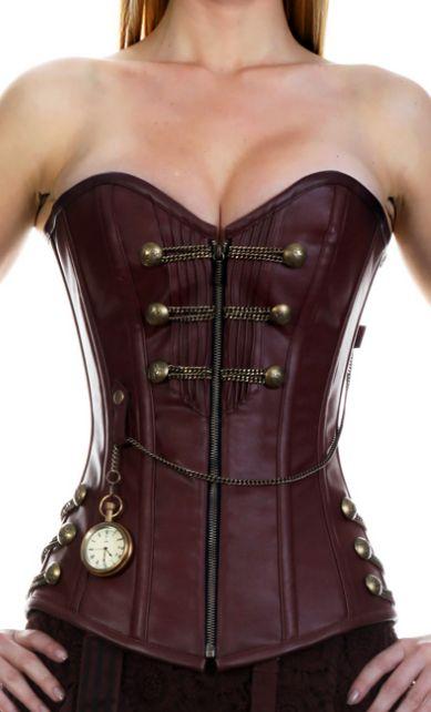 Steampunk corset pleather