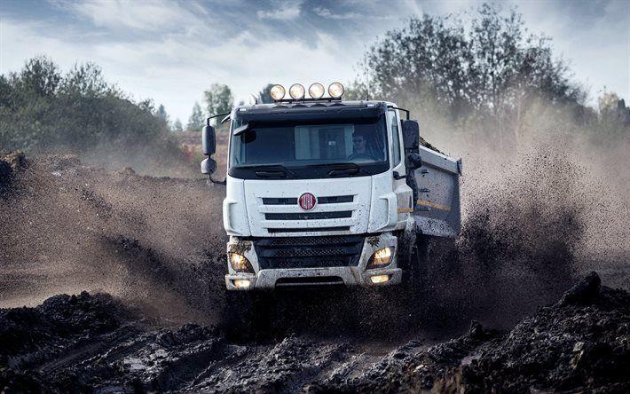 壁紙をダウンロードする トラック, 汚れ, タトラフェニックス, 速度, 2016年, ダンプトラック, タトラ