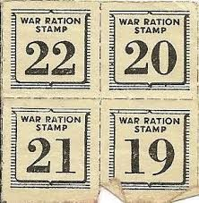 ration stamp ww2 - retro stamp effect