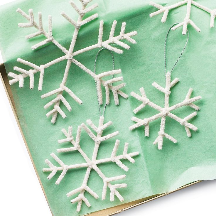 Pipe-Cleaner Snowflake Ornaments and more on MarthaStewart.com