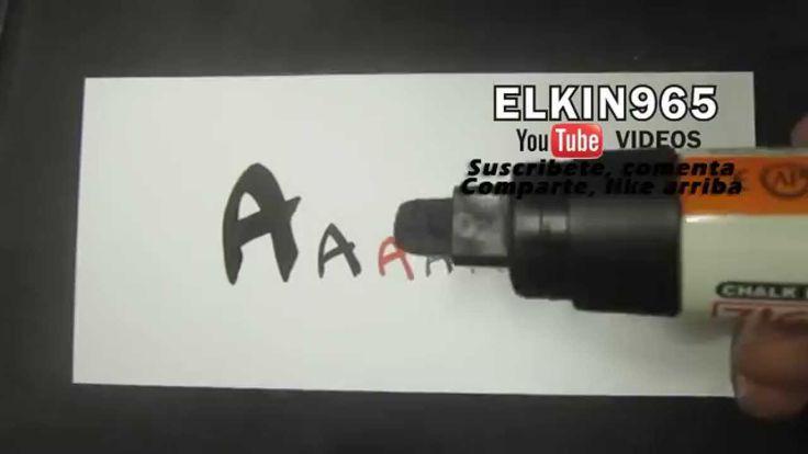 Como hacer Letra timoteo Aprende abecedario letra A
