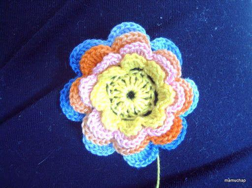 mada i szydełko: 40, kwiatek na szydełku - tutorial