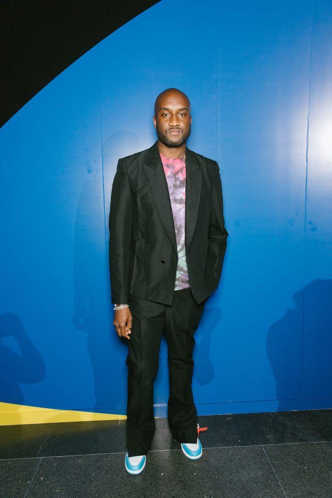 sale retailer 1549f 86daa ICYMI Virgil Abloh Rocks Louis Vuitton Suit, T-Shirt And Off-White X Air Jordan  1 UNC Sneakers