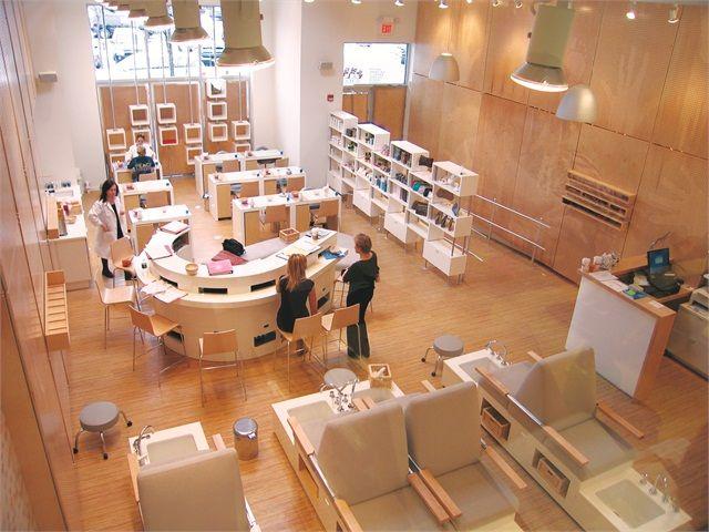 Nail salon blueprint buscar con google nail salon for Nail salon interior designs