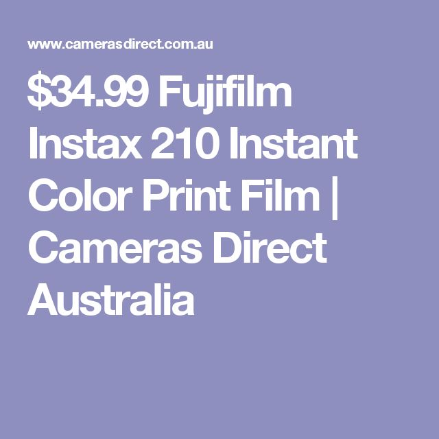 $34.99 Fujifilm Instax 210 Instant Color Print Film | Cameras Direct Australia