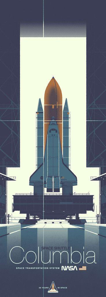 "Kevin Dart ""Space Shuttle Columbia"" Framed Print"