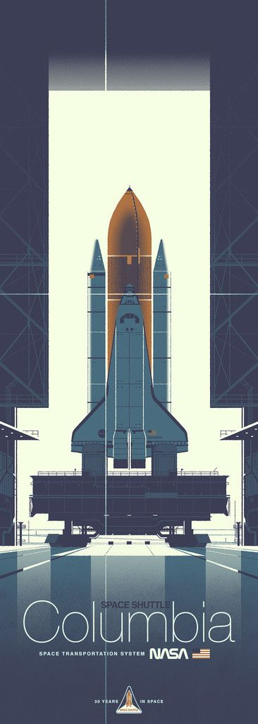 "Kevin Dart ""Space Shuttle Columbia"" Print"