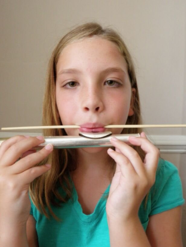 Use chopsticks to train flute embouchure.