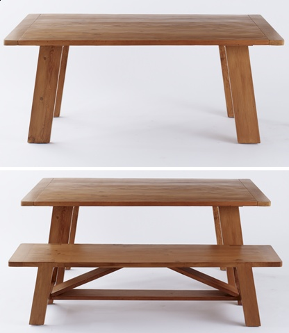 High Quality Muir Reclaimed Wood Farmhouse Dining Table With Breadboard Ends | Amenity  Home