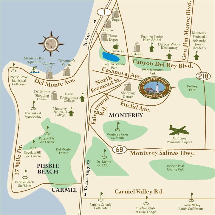 Monterey Tourist Map