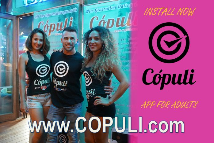 """Discover the FORBIDDEN app for adults COPULI where you can find the most daring proposals FREE. Let of """"likes"""" and """"matchs"""" and meet real people with clear ideas. WWW.COPULI.COM"""